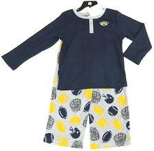 CARTER'S BOYS' 2 Pce USA Football Pyjamas Set, grey & blue top & Bottoms 7 years