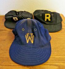 Vintage Lot of 3 Wool Baseball caps hats Wilson Rawlings Made in USA