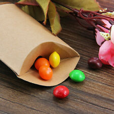 200pcs Cute Kraft Paper Pillow Gift or Wedding Favour Boxes Candy Cake Sweet Bag 50pcs