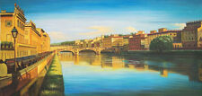"""perfect 48x24 oil painting handpainted on canvas """"beautiful landscape""""@N2670"""