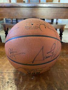 1999-00 Portland Trail Blazers Team Signed Basketball PSA DNA Coa Scottie Pippen