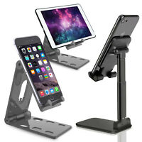 Adjustable Portable Desktop Cell Phone Stand Desk Holder For iPad/iPhone/Tablet