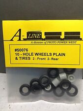 HO 1/87 A-Line # 50076 10-Hole Wheels, Tires, Axles - 1 front, 2 rear