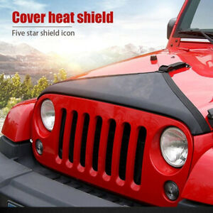 Black Front Hood Bra Cover T-Style Protector For Jeep Wrangler  TJ JK 1997-2006