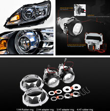"2Pcs 3"" Xenon HID Projector Lens with Silver Shrouds for H4 H7 LHD Car Headlight"
