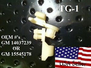 CHEVY AND GMC Tailgate Handle Rod Clips 1981 TO 1998 , 1-PAIR TG1