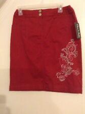 NEW TAGS Olivia & Martin Dark Pink Skirt Sz Small 4 6 NWT Pencil Straight Flower