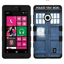Police-in-a-Box For NOKIA LUMIA 521 (BK) Hybrid Armor Case Phone Cover