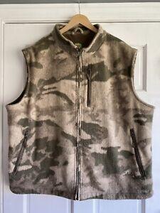 CO27 Cabelas Wooltimate Camo Hunting Vest Berber Mens XXL