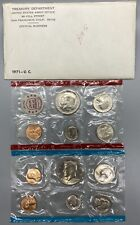 Lot of 4 Uncirculated US Coin Mint Sets- P & D - years 1971, 1972, 1995, 1998