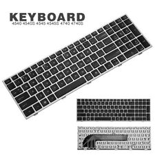 UK Silver Frame Keyboard Replacement For HP ProBook 4540 4540S 4545 4545S 4740S