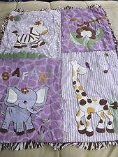 baby girl's SISI baby boutique SAFARI 12 piece crib bedding