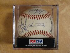 KEN BOYER DON DRYSDALE WALT ALSTON DODGERS 18 SIGNED AUTOGRAPHED MLB BALL PSA
