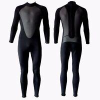 Black 3/2mm Wetsuit Smooth Skin Neoprene Full Body Surf Scuba 3/2 3 2 mm Mens