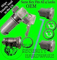 GM OEM Ignition Door Trunk Keyed Alike Lock Cylinder Tumbler Barrel Set 2 Keys