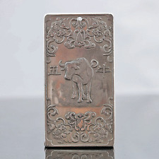 Chinese Collection Tibet Silver Hand Carved Chinese Zodiac Pendant - Cattle