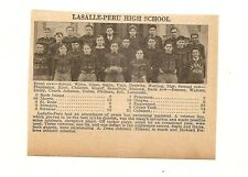 LaSalle Peru Illinois 1929 Football High School Team Picture
