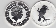 2009 AUSTRALIA P20 SILVER 1oz.KOOKABURRA ON SHORT BRANCH RIGHT IN CAPSULE
