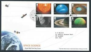 29225) UK - Great Britain 2012 FDC Space 6v