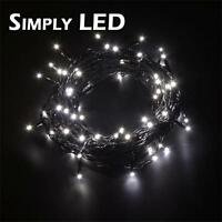 Warm White Outdoor LED String Lights - Fairy Christmas Indoor - 6m, 12m, 30m