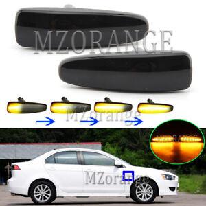 LED Black Dynamic Side Marker Light Turn Signal For Mitsubishi Lancer EX 2007-18