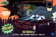 1966 Batmobile + 2 Figuren Batman  Robin Snap 1:25 Model Kit Polar Lights POL965