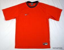 Vintage 90s Nike Dazzle Dri Fit Soccer Jersey Orange Black Sz Boys XL 18-20