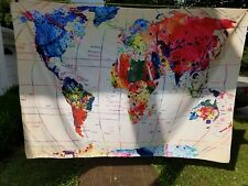 Cloth map Large Colorful 5 By 7 Foot