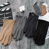 Warm Gloves Screen Plush Insulation Winter Men Riding Touch Driving Proof Cold