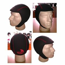 Peaked wetsuit surf cap hat hood. 2.5mm Finemesh super stretch neoprene.Easy fit