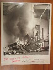 Vintage Glossy Press Photo Natick MA Unknown Crane Building Fire Exterior 1980s