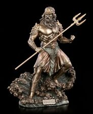 Poseidon Figure With Trident - Veronese Sea God Greek Mythology Deco