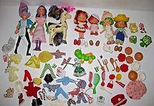 Vintage STRAWBERRY SHORTCAKE Doll Clothes Shoes Pet Food Accessory PIE MAN Lot