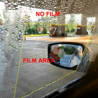 Anti-fog Rain Shield Car Waterproof Rearview Mirror Film Coating Sticker 2PCS