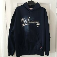 Majestic Men's Hooded Sweatshirt Plus Size 2XL Milwaukee Brewers 2011 Playoffs