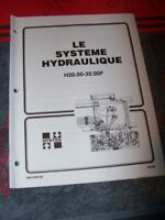 4A Manuel HYSTER Le systeme Hydraulique H20.00-32.00F