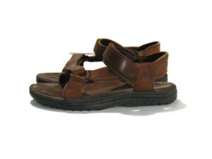 Teva Sandals Brown Leather Adjustable Ankle Strap Hurricane Hiking Mens Size 11