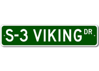 S-3 S3 Viking Airforce Pilot Metal Wall Decor Street Sign - Aluminum