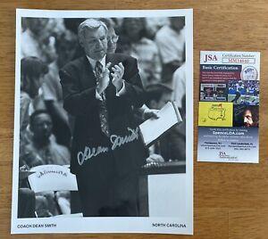 Dean Smith Signed Autographed 8x10 Photo JSA Certified North Carolina Tar Heels