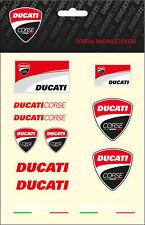 Ducati Corse Aufkleber - Sticker, 1 x 12 Stück, (Set 3A)