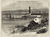 SAN FRANSISCO BAY SELBYS WHARF NEPTUNE BATH HOUSE William Ralston Drowning 1875