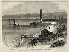 SAN FRANSISCO BAY SELBYS WHARF NEPTUNE BATH HOUSE William Ralston Drowning 1875