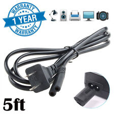 5ft 2-Prong AC Power Cord Cable for Laptop Charger Adapter Port PS2 Slim