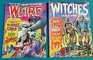 Vintage Horror Magazines-1972-Lot of two -WEIRD and Witches' Tales