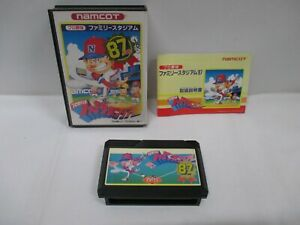 NES -- Pro Yakyu FAMILY STADIUM 87 -- Box. Famicom, JAPAN Game. 10478