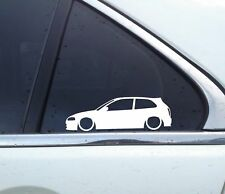 2X Lowered car outline stickers - for Mitsubishi Colt / Mirage cyborg (5th)