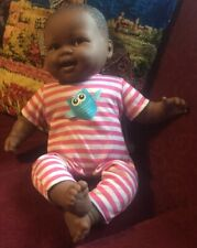 """Jc Toys Lots to Cuddle Babies African American 20"""" Soft Body Baby by Berenguer"""