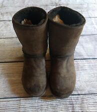 Women's Ugg Boots Size 7 Chocolate Brown Classic Short