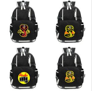 Cobra Kai the Karate Kid Saga Backpack Teenager School Bag Shoulder Travel bag