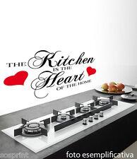 WALL STICKERS DECORAZIONI ADESIVI MURALI the kitchen is the heart of the home